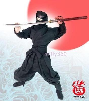 Ninja Clothing (1/6 Scale Black Samurai Ninja Costume Clothing Sets F 12'')