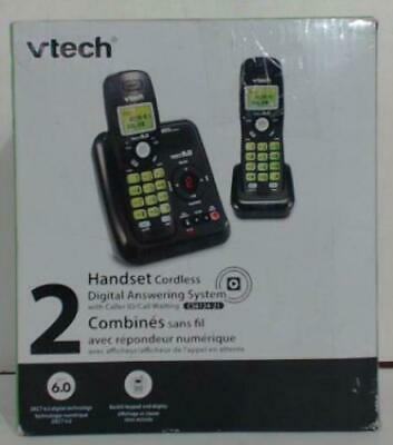 Vtech CS6124-21 2-Handset Cordless Phone w/ Answering Machine Black