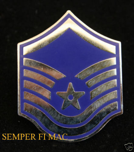 MASTER SERGEANT E7 MSGT LAPEL HAT PIN US AIR FORCE VETERAN RANK SGT PROMOTION