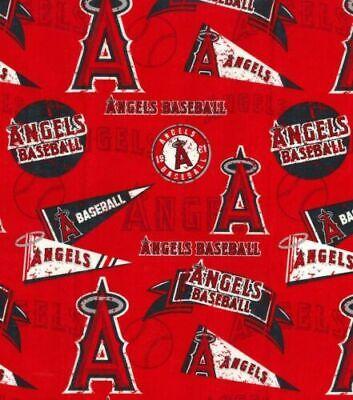 1/2 YARD MLB Anaheim Angels Stadium Baseball Fabric half Yard or more new cotton