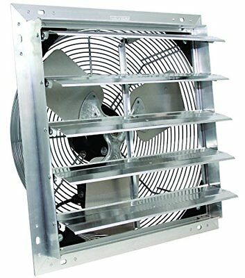 20 Ves Shutter Exhaust Fan Box Fan With 9 Foot Cord 3 Speed - New In Box
