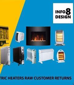 Wholesale Job Lot 2 X Pallets Load Mix Heaters Raw Customer Returns