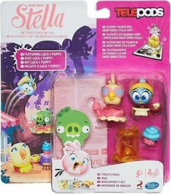 ANGRY BIRDS Stella Telepods Treats Pack Featuring Luca & Poppy Hasbro - NEW