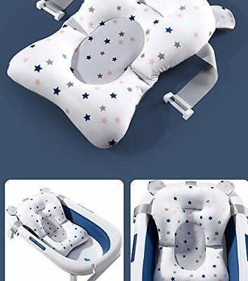 Baby Bath Cushion Pad Newborn Bathtub Mat Infant Bath Supporter Net Baby Bath...