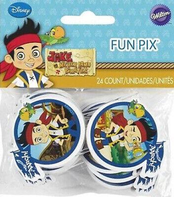 Jake And Neverland Pirates Decorations (JAKE & NEVERLAND PIRATES CUPCAKE FUN PIX Disney birthday party supplies 24)