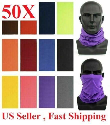 50pc wholesale Face Mask Sun Neck Gaiter Balaclava Neckerchief Bandana Headband Clothing, Shoes & Accessories