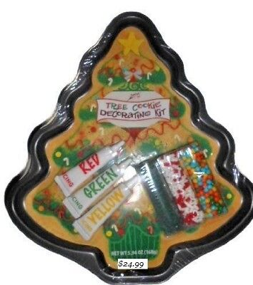 Jumbo Christmas Tree Cookie Decorating Kit -  durable non stick baking pan