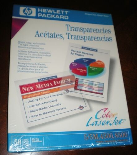 Hewlett-Packard Color LaserJet Transparencies – Box of 50