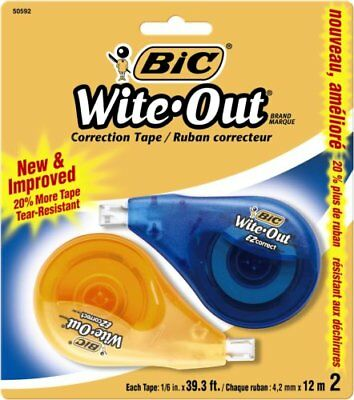 Wite-out Correction Tape - 0.17 Width X 33.14 Ft Length - 1 Lines - White