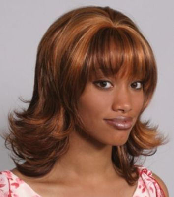 50S 60S WOMENS MID-LENGTH FLIP UP W/ LAYERED SIDES ENDS BANGS COSTUME WIG -