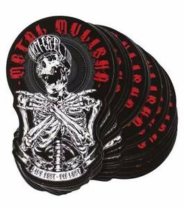 """The Logo sticker by Metal Mulisha measures approx 4""""W x 6""""H. Bargo Wollondilly Area Preview"""