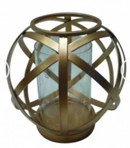 BEAUTIFUL GLOBE SHAPE GOLD CANDLE HOLDER - FREE POST Temora Temora Area Preview