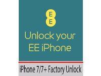 EE/T-Mobile UK Factory Unlocking - iPhone 7 / 7 Plus