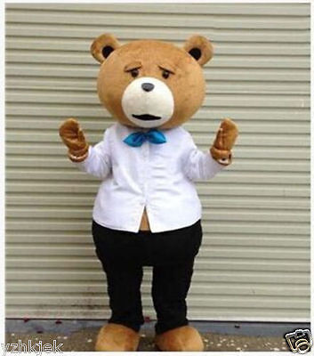 2019 Adult Halloween Teddy Bear of TED Cartoon Mascot Costume Fancy Dress - Ted Costume