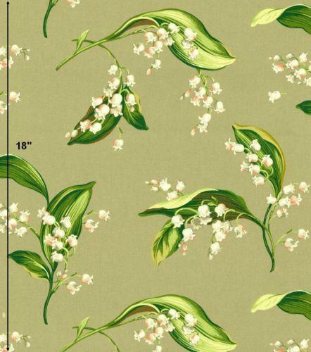 Lily Of The Valley Fabric Ebay
