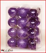 Purple Christmas Tree Decorations