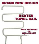 White Freestanding Towel Rail
