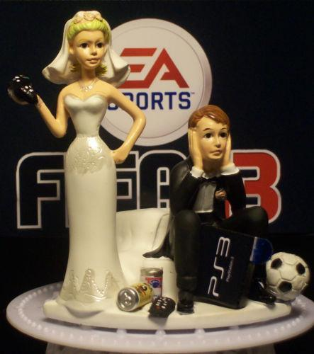 wedding cake toppers soccer soccer wedding cake toppers ebay 8839