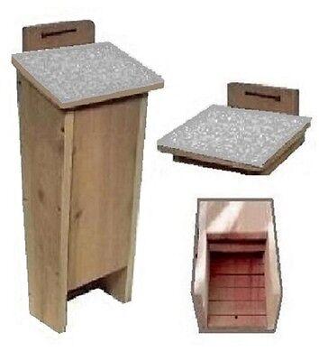 Ark Workshop Shingled Bat House cedar shelter box A+ mosquito bug control LGRY