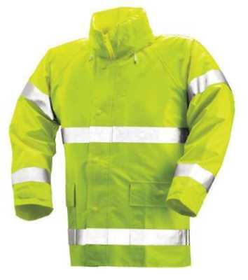 Fits Chest Size 40 to 42 Tingley Hi-Visibility Yellow//Green Polyurethane//Polyester Rain Jacket J24122 Size M