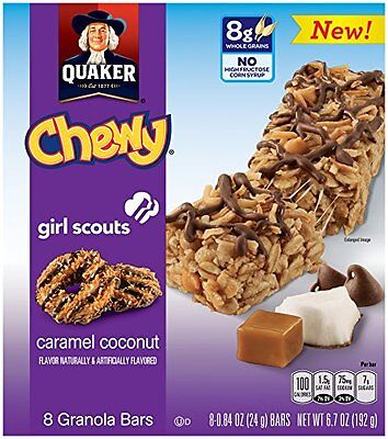Quaker Girl Scouts Caramel Coconut Chewy Granola Bars, 6.7 Ounce