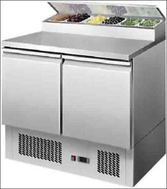 2 Door Pizza & Salad Preparation Counter Fridge