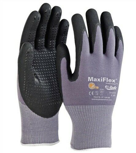 34-844 MaxiFlex Ultimate Nitrile MicroFoam Coated Gloves W/Dotted Palms – XXS-XL Business & Industrial
