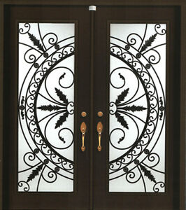 Wrought Iron & Stained Door Glass Inserts