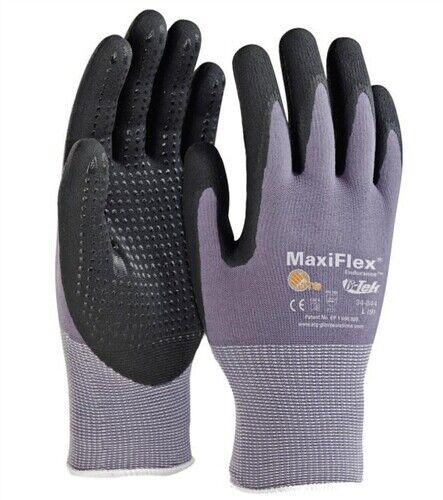 GTek 34-844 MaxiFlex Ultimate NitrileFoam Gloves W/ Dotted Palm 3 PAIR Pick Size Business & Industrial