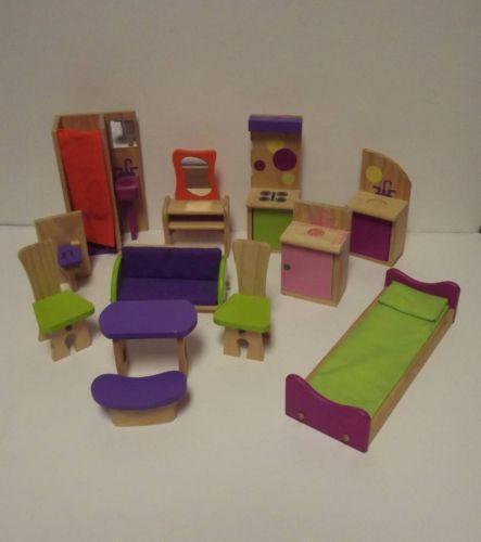 kidkraft wooden dollhouse ebay