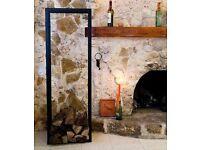 150 cm metal firewood rack log store
