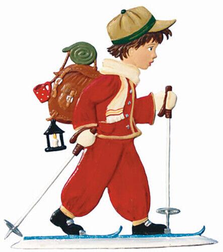 """WILHELM SCHWEIZER GERMAN ZINNFIGUREN Little Skier (3.25"""" x 3.5"""")"""