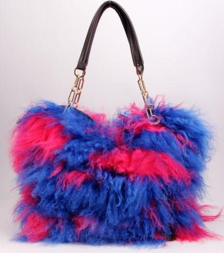 dd013b001ca Lamb Fur Handbag   eBay