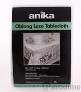 White Oblong Lace Tablecloth