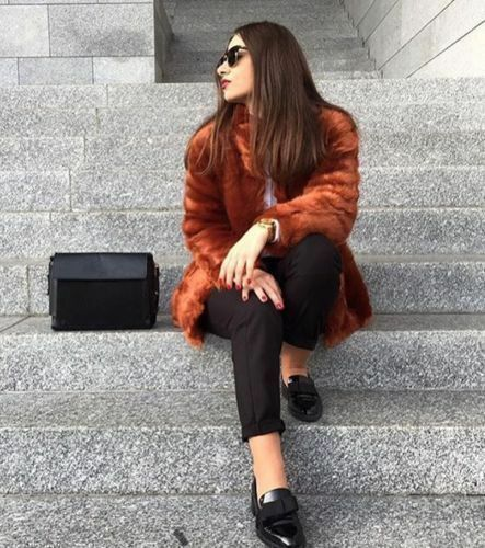 Burnt Orange Faux Fur Jacket