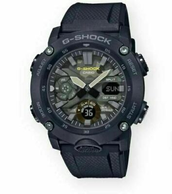Casio G-Shock Carbon Core Guard Structure Rubber Strap Men's Watch GA2000SU-1A