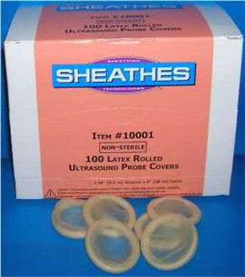 Sheathes Latex Ultrasound Probe Covers 1-14 D X 8 L Non-sterile 100bx 1.25