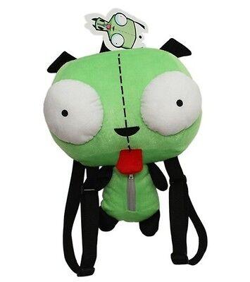 Alien Invader Zim Gir Robot Dog Green Big Eyes Plush Backpack Bag