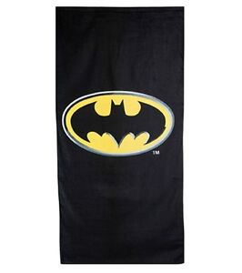 Batman Emblem Logo Beach Towel 100% Cotton