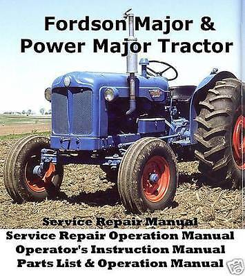 Complete Fordson Power Major Tractor Service Manuals Op Operation Operator Parts