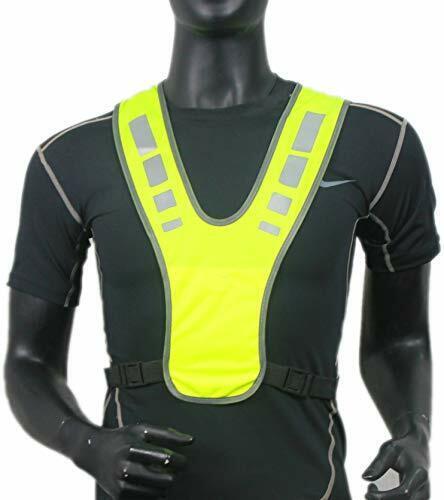 Reflective Running Gear Reflective Vest Adjustable Waisthigh Visibility Vest,