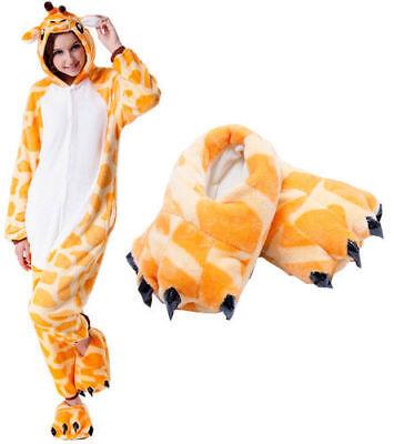 Giraffe Kigurumi Adult Animal Cosplay Costume Pajamas bodysuit Unisex Sleepwear  (Giraffe Costume Adult)