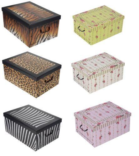 Decorative Storage Boxes Uk : Decorative cardboard boxes