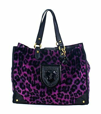 Juicy Couture Nicola Wild Things Leopard Tote (Purple) $248 Retail Price