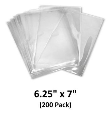 6.25x7 inch Odorless, Clear, 100 Guage, PVC Heat Shrink Wrap Bags (200 Pack)
