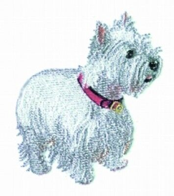 Embroidered Long-Sleeved T-Shirt - West Highland White Terrier Westie BT3112