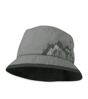 Outdoor Research Kid's Solstice Sun Bucket Hat Pewter UPF 50+ Large 6-12 Years
