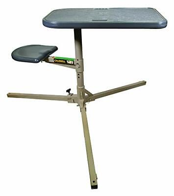 Caldwell Stable Table 360 Degree Rotation Weatherproof Synthetic Top 252552 New