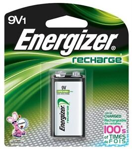 Energizer 9V Rechargeable Battery NH22NBP NiMH 8.4V- 175mAh, Single Pack