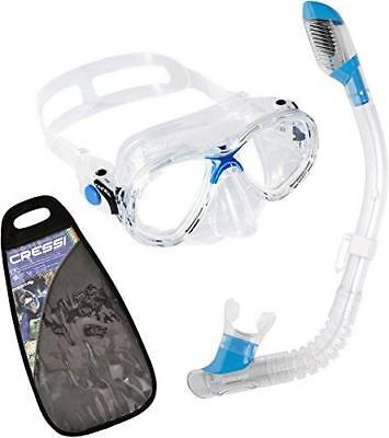 Cressi MAREA JR & MINI DRY, Youth Kids Snorkeling Mask and Dry Snorkel